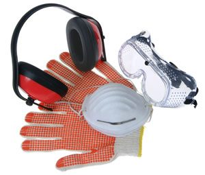 rental, gloves, goggles, hearing protection, helmet